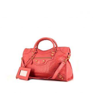 5a4ddd9c49c9 High Quality Balenciaga Replica Classic City handbag in pink leather