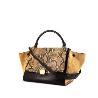 ... High Quality Replica celine Trapeze medium model handbag in beige  python and beige suede ... 5a0c7faee420f