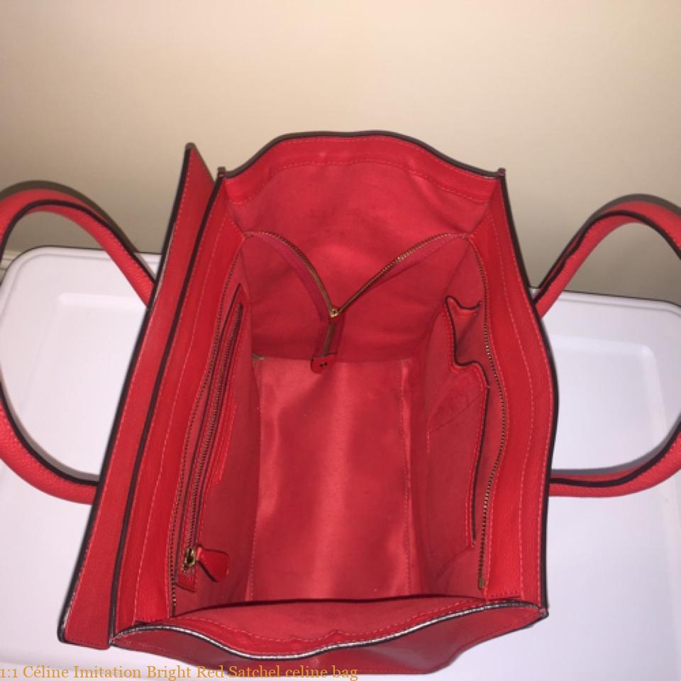 0082a30b3 1:1 Céline Imitation Bright Red Satchel celine bag – Best replica ...