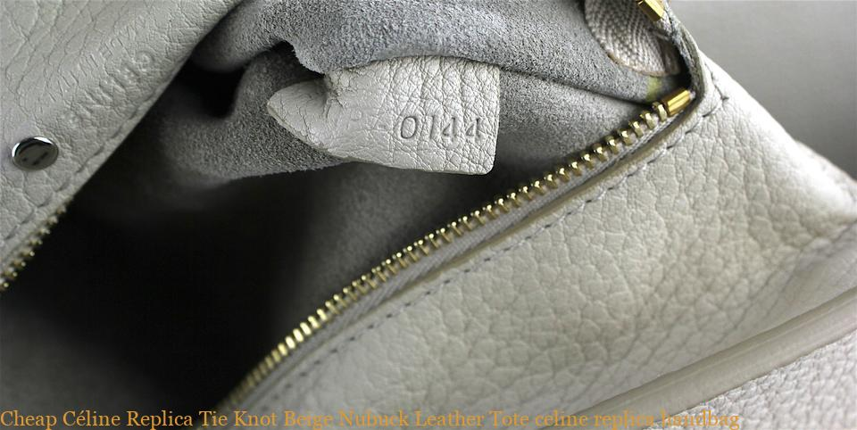 4126ba943 Cheap Céline Replica Tie Knot Beige Nubuck Leather Tote celine replica  handbag