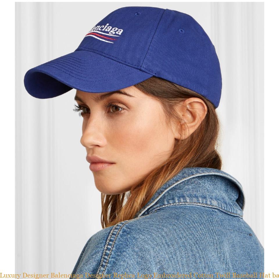 3ebe268f Luxury Designer Balenciaga Designer Replica Logo Embroidered Cotton Twill  Baseball Hat balenciaga bag sale
