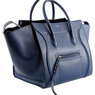 Outlet Céline Designer Replica Luggage Cabas Phantom Medium Pebbled Handbag  Royal Blue Leather Tote high quality replica handbags china cf0b7b3891006