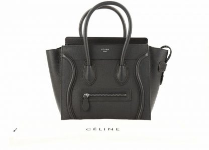 7aa8137e54d2 Top Designer Qualities Céline 7 Star Replica Luggage Micro Black Calfskin Leather  Tote high quality replica handbags china