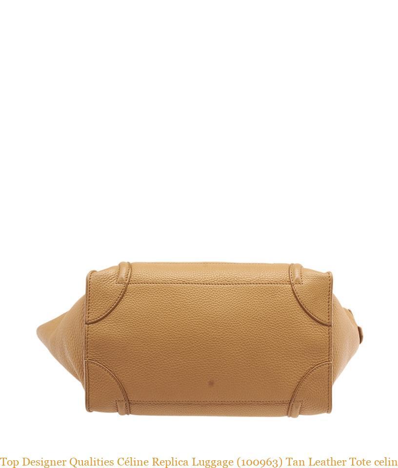 Top Designer Qualities Céline Replica Luggage (100963) Tan Leather Tote  celine big bag replica 0a2f60ad78bac