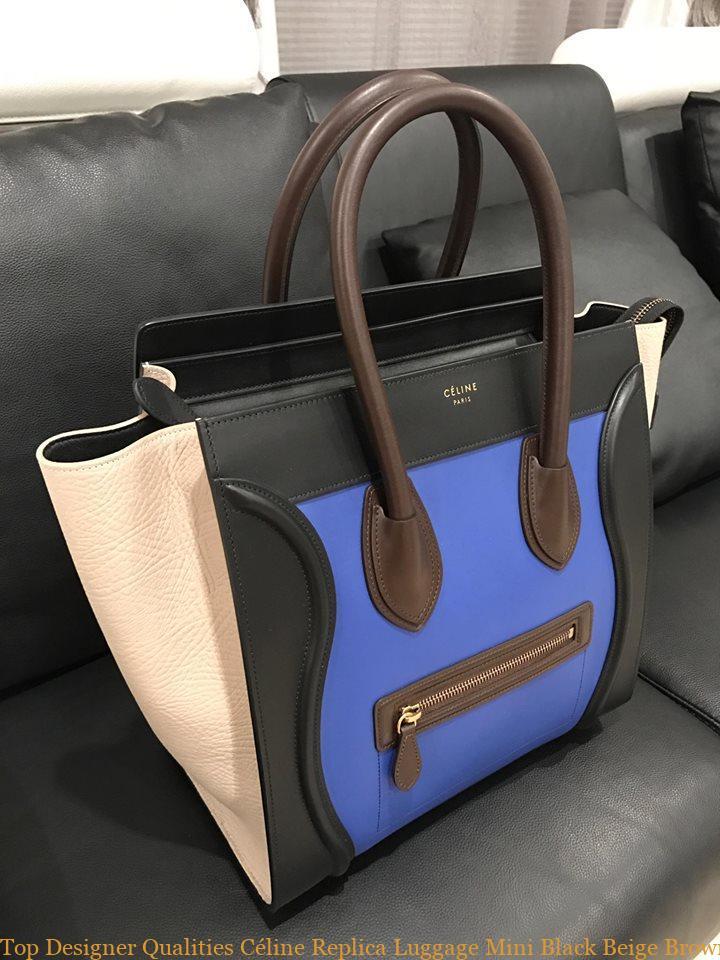 c43e047cdb Top Designer Qualities Céline Replica Luggage Mini Black Beige Brown Suede  Tricolor Blue Leather Tote celine aaa replica