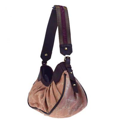 4c597842a2a UK Céline Designer Replica Macadam Pink Brown Canvas Leather Velor Shoulder Bag  celine bag